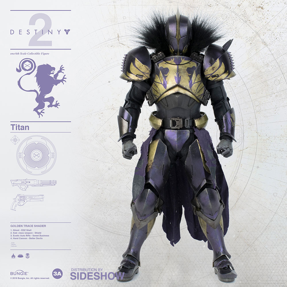 [Pre-Order] Destiny - Titan (Golden Trace Shader)1/6 Scale Figure