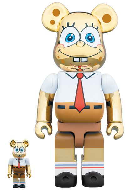 [Pre-Order] Bearbrick 400% + 100% SpongeBob Gold Chrome Ver.