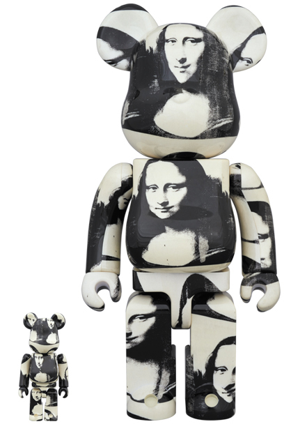 Bearbrick 400% + 100% Andy Warhol Double Mona Lisa