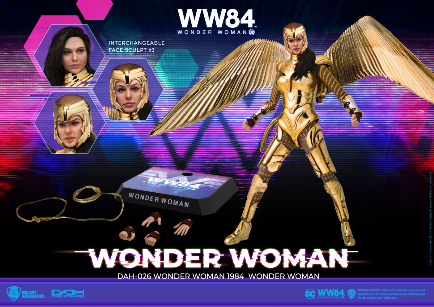 [Pre-Order] Dynamic 8ction Heroes - Wonder Woman 84 Golden Armor