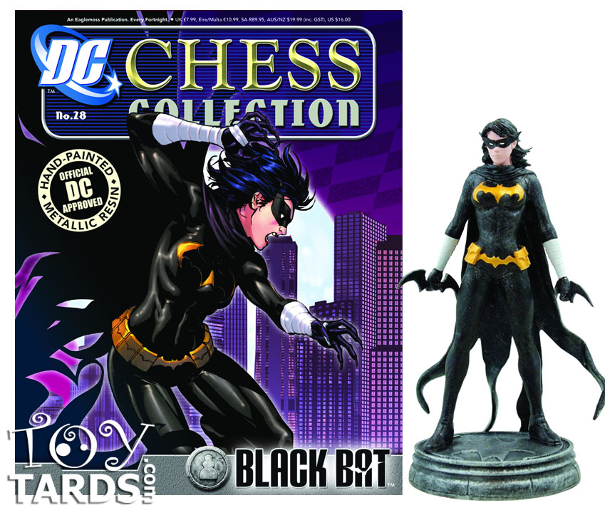 DC Superhero Chess Magazine #28 Black Bat (White Pawn)