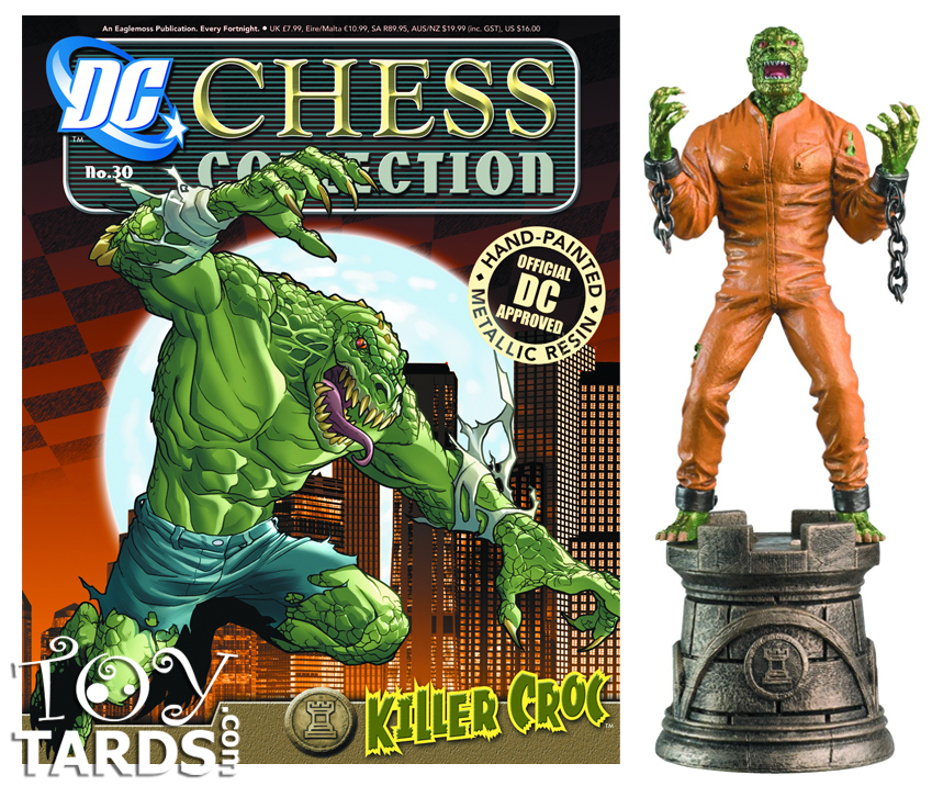 DC Superhero Chess Magazine #30 Killer Croc (Black Rook)