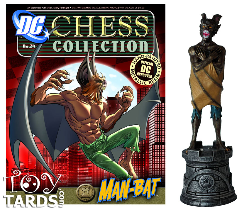 DC Superhero Chess Magazine #24 Man Bat (Black Rook)