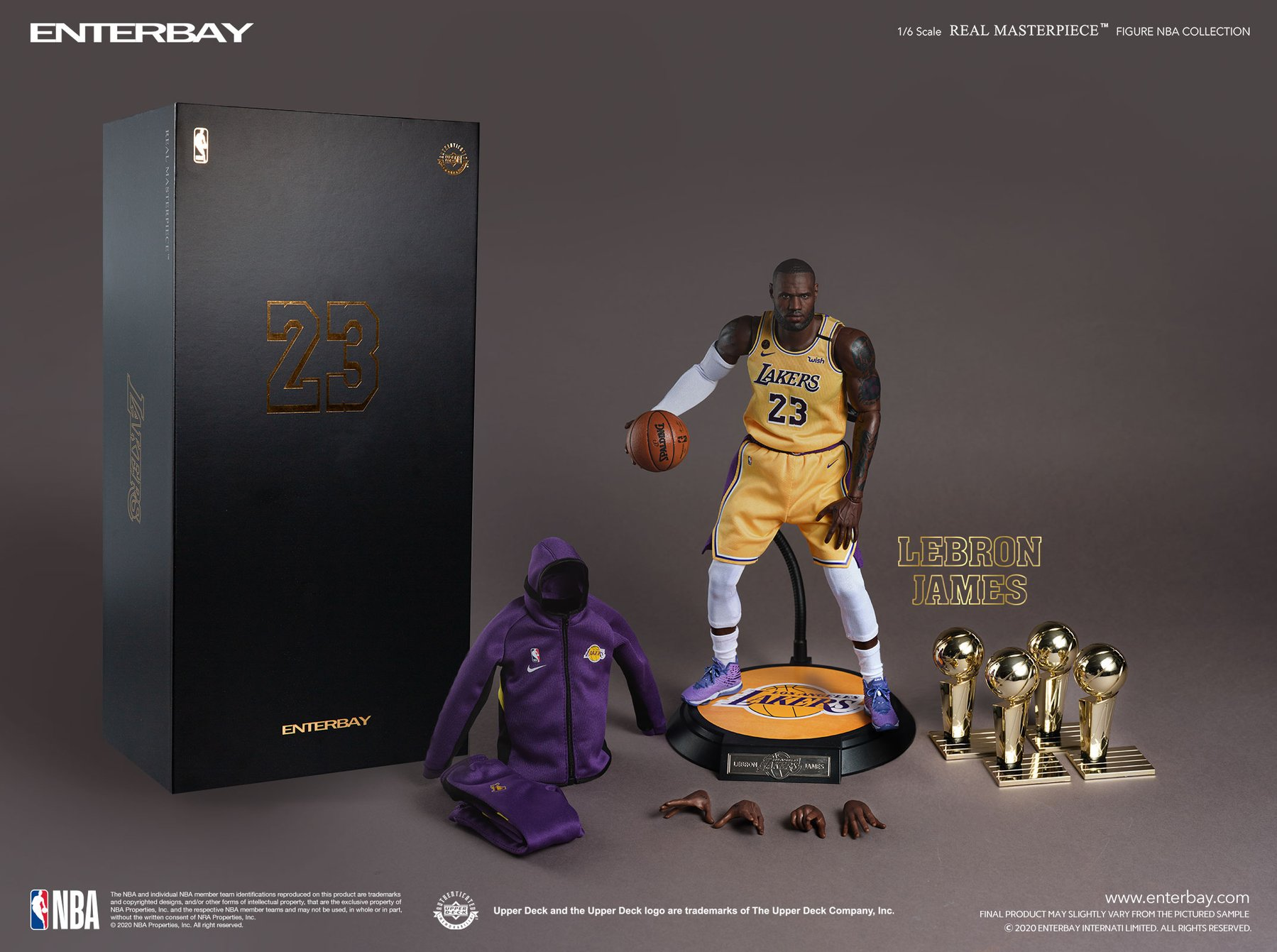 [Pre-Order] NBA - LeBron James Real Masterpiece Set - Click Image to Close