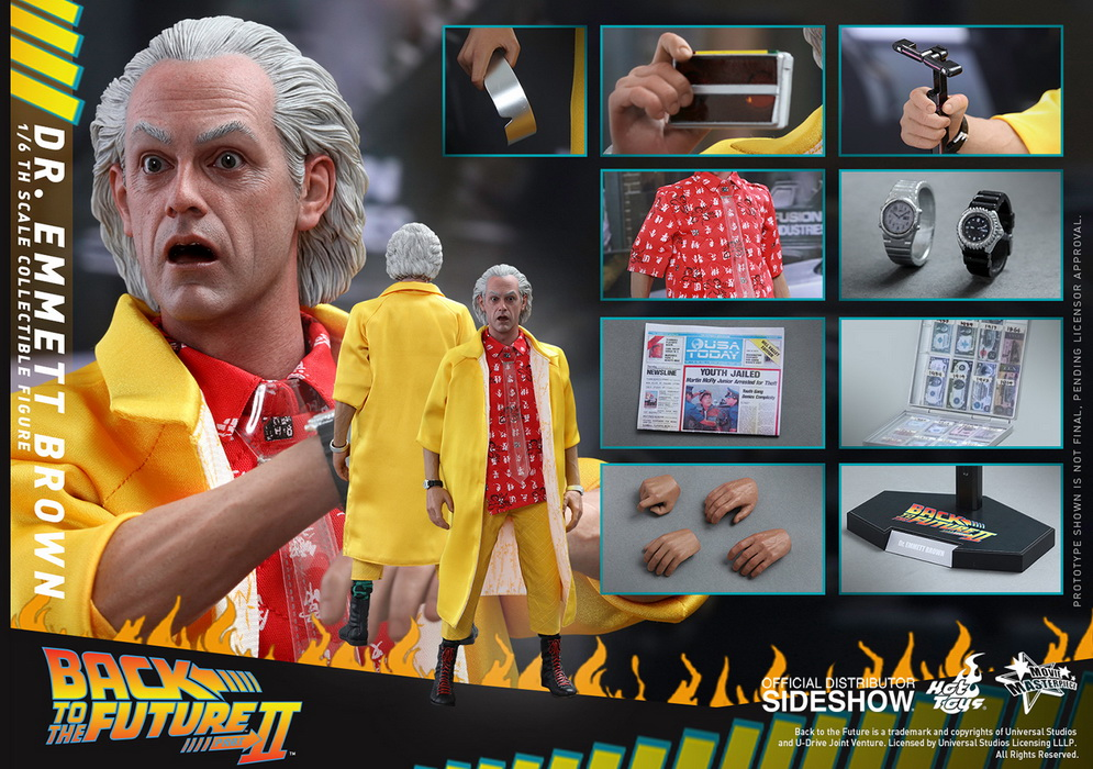 Back to the Future Part II - Dr Emmett Brown Movie Masterpiece