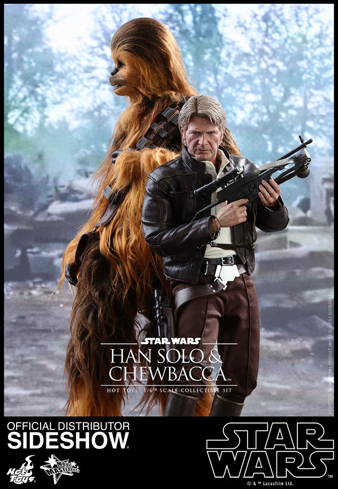 Episode VII - Han Solo and Chewbacca Movie Masterpiece Set