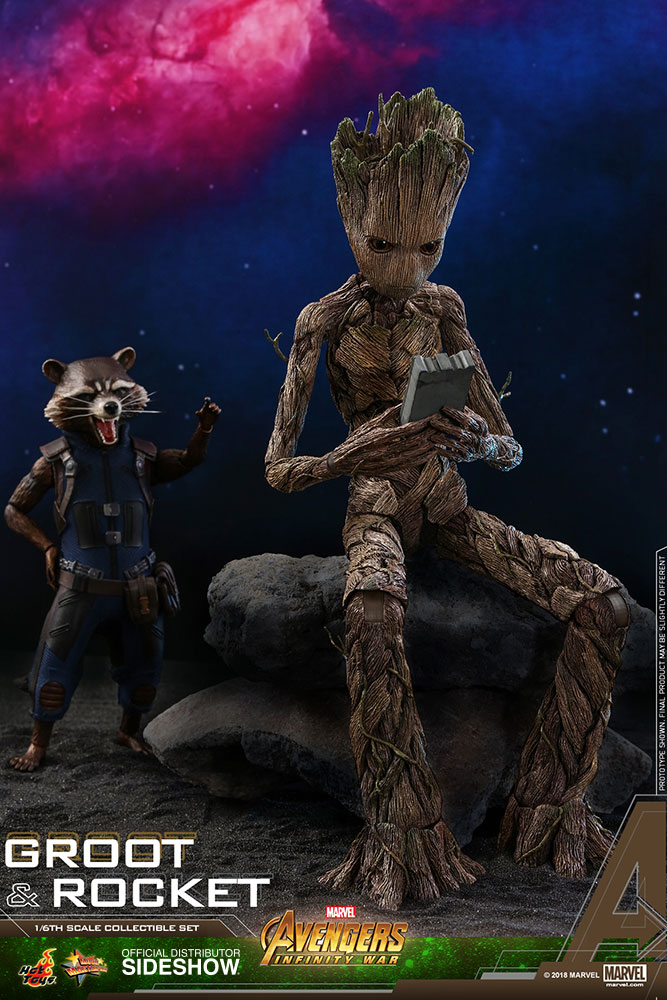Avengers: Infinity War - Groot and Rocket Movie Masterpiece