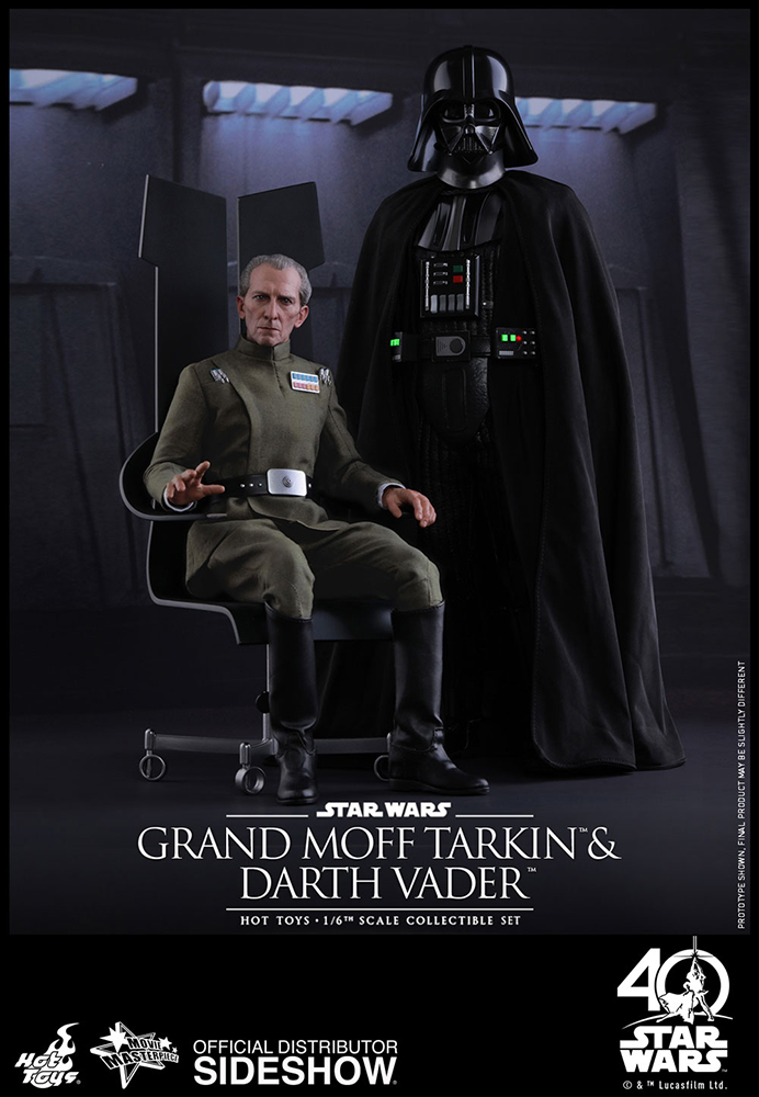 Episode IV A New Hope - Grand Moff Tarkin and Darth Vader Movie Masterpiece Set