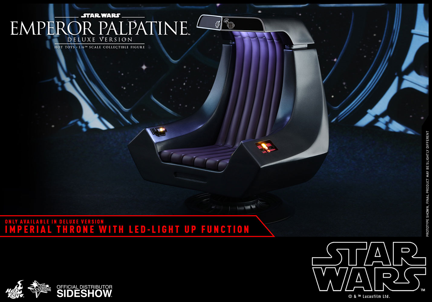 [Pre-Order] Episode VI Return of the Jedi - Emperor Palpatine Deluxe Movie Masterpiece - Click Image to Close