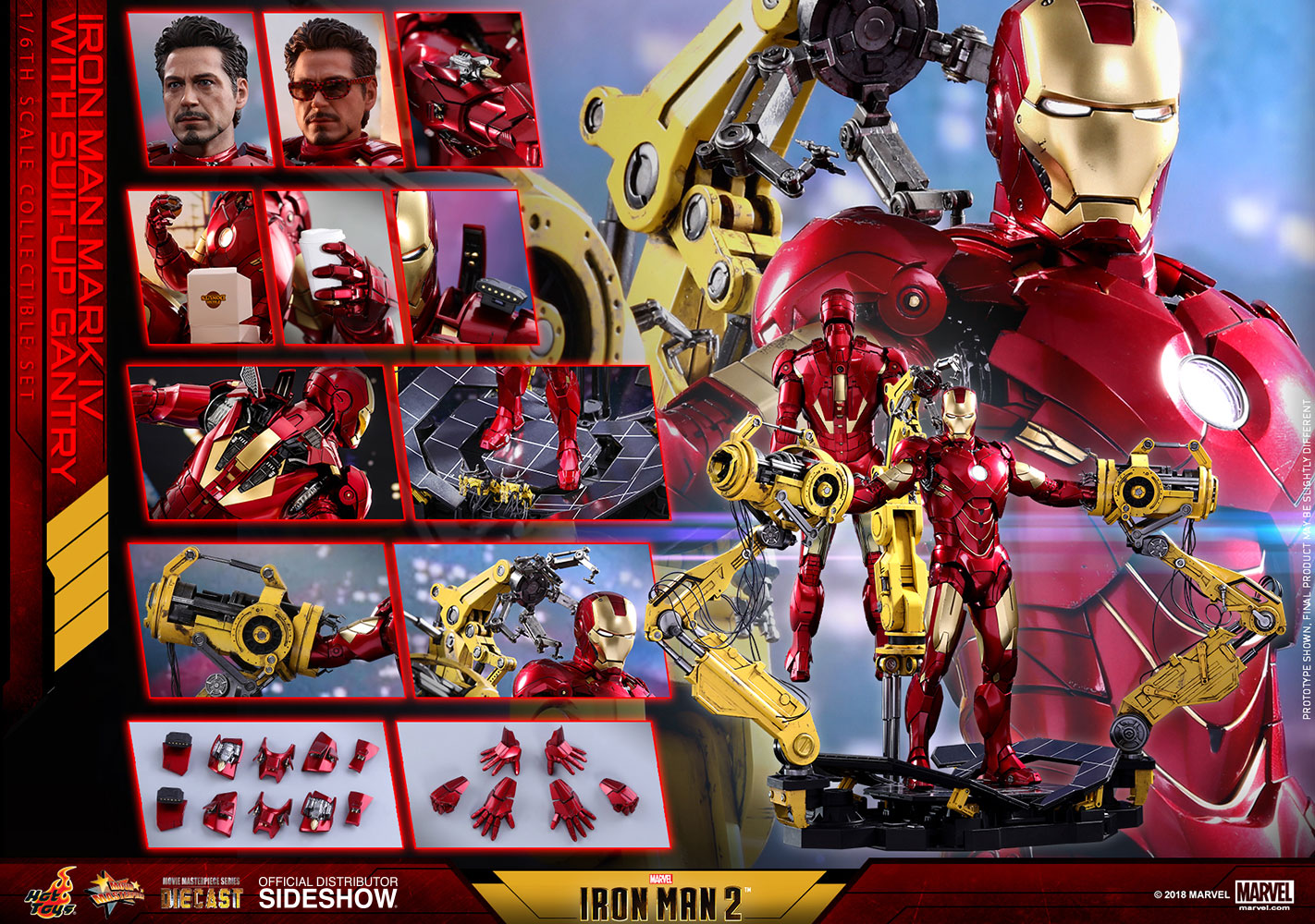 [Pre-Order] Iron Man Mark IV with Suit-Up Gantry Diecast Movie Masterpiece - Click Image to Close