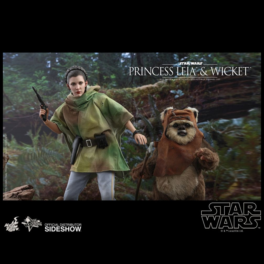 Episode VI Return of the Jedi - Princess Leia & Wicket Movie Masterpiece Set