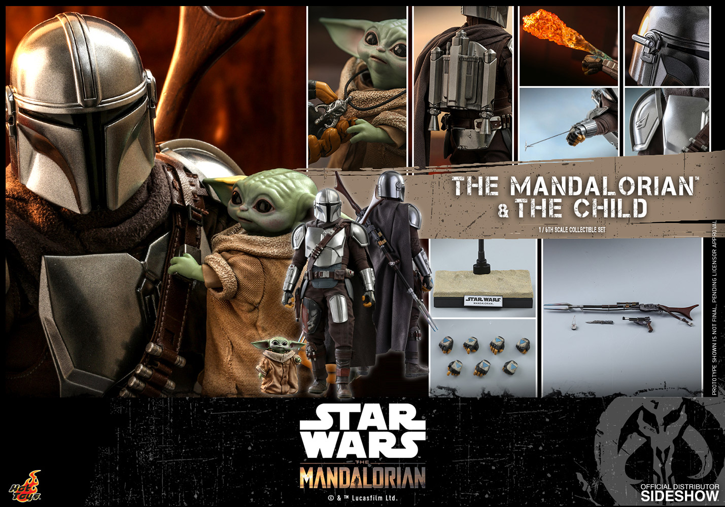[Pre-Order] The Mandalorian - The Mandalorian and The Child Movie Masterpiece Collectible Set