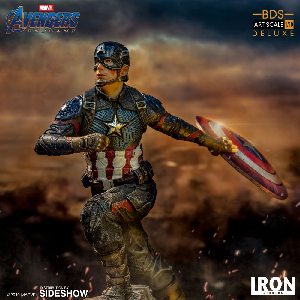 [Pre-Order] Art Scale 1:10 Battle Diorama Series: Captain America (Deluxe) Statue