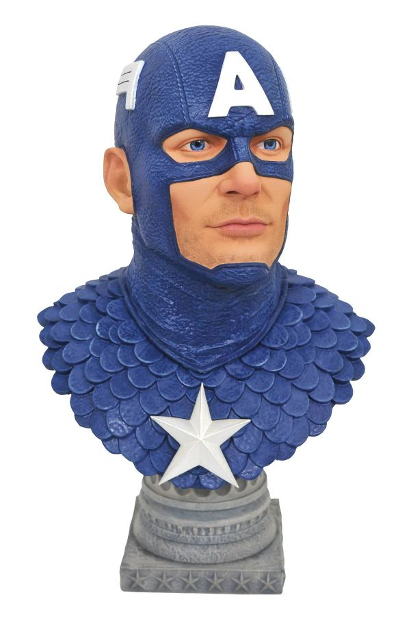 [Pre-Order] Legends in 3D - Comic Captain America 1/2 Scale Bust