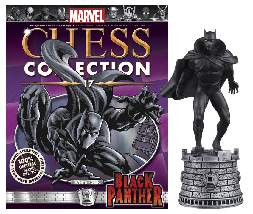 Marvel Chess Magazine #17 Black Panther (White Rook)