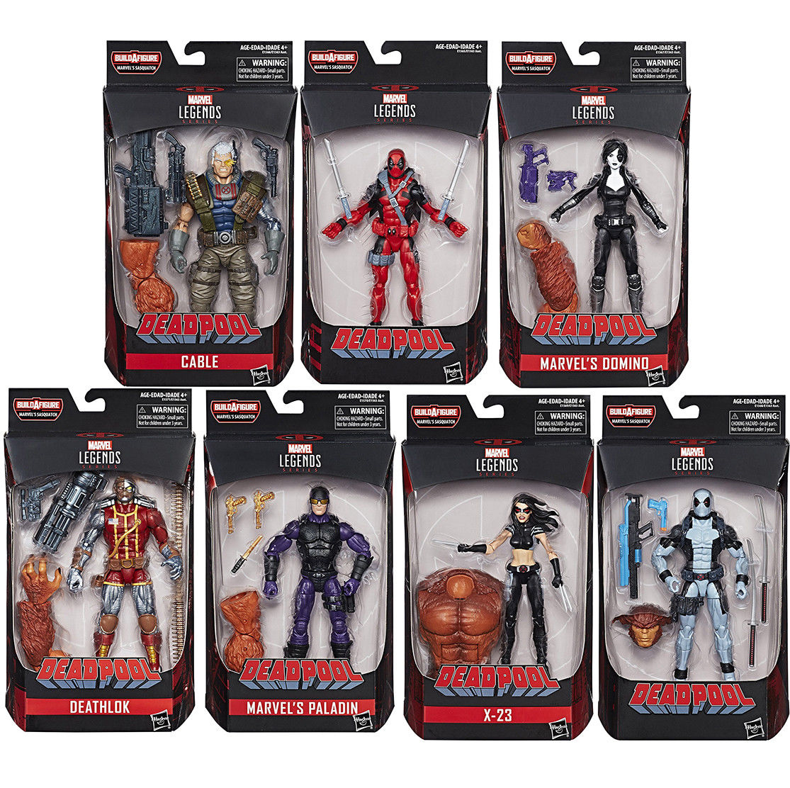 "Marvel Legends 6"" Deadpool Wave 1 Set of 7 - Click Image to Close"