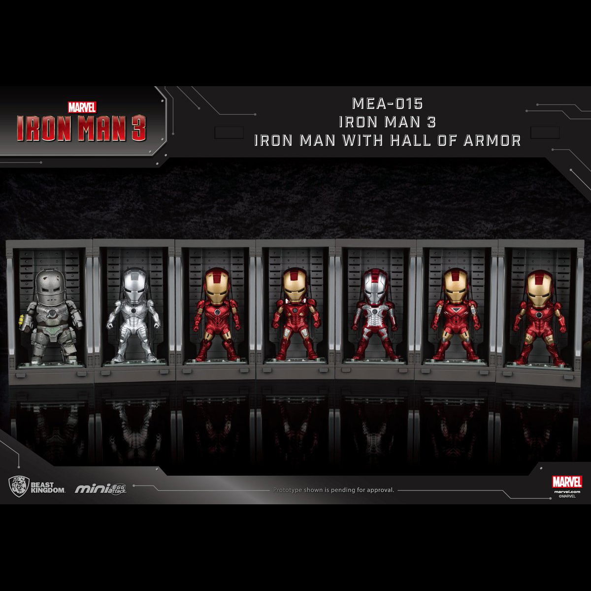 [Pre-Order] Mini Egg Attack: Iron Man Mark I to VII w/ Hall of Armors