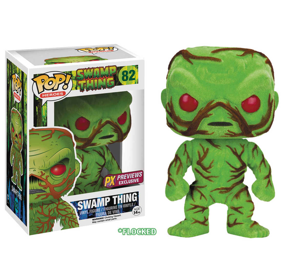 POP! Heroes - Swamp Thing Flcoked PX Exclusive Ver.