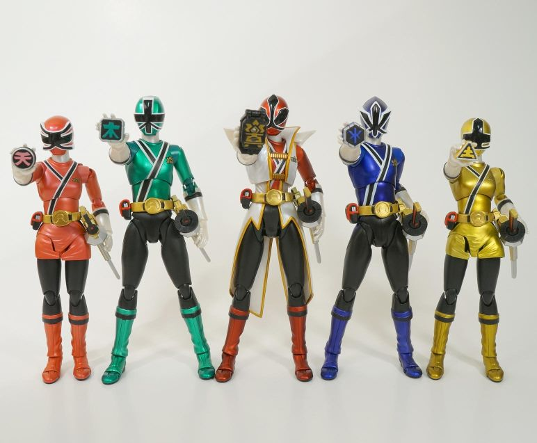 Power Ranger Samurai Metallic 5 Color Set SDCC Exclusive 2013 *Clearance