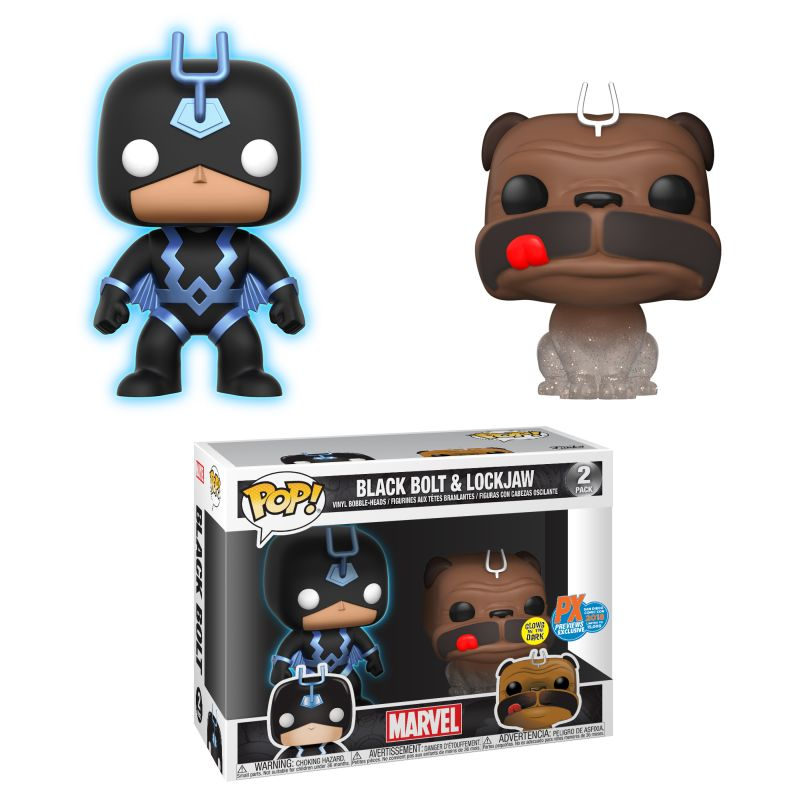 2018 SDCC Pop! Marvel - Teleporting Lockjaw & Black Bolt