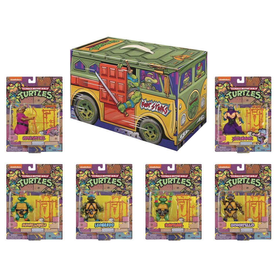 [Pre-Order] 2020 SDCC TMNT Retro Rotocast 6PC Action Figure Set