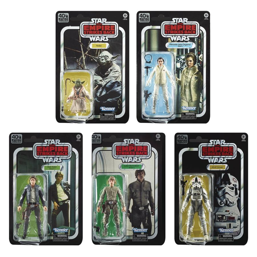 "[Pre-Order] Star Wars Black Series 6"" The Empire Strikes Back 40th Anniversary Wave 1 Set of 5"