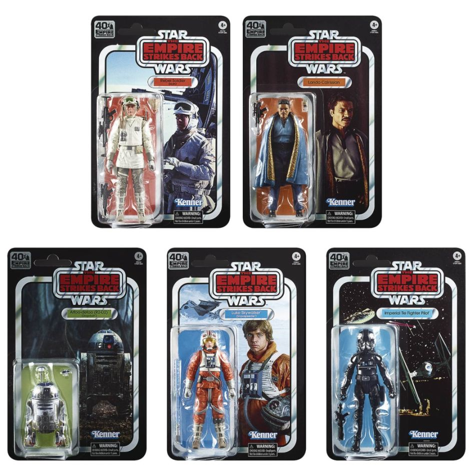 "[Pre-Order] Star Wars Black Series 6"" The Empire Strikes Back 40th Anniversary Wave 2 Set of 5"