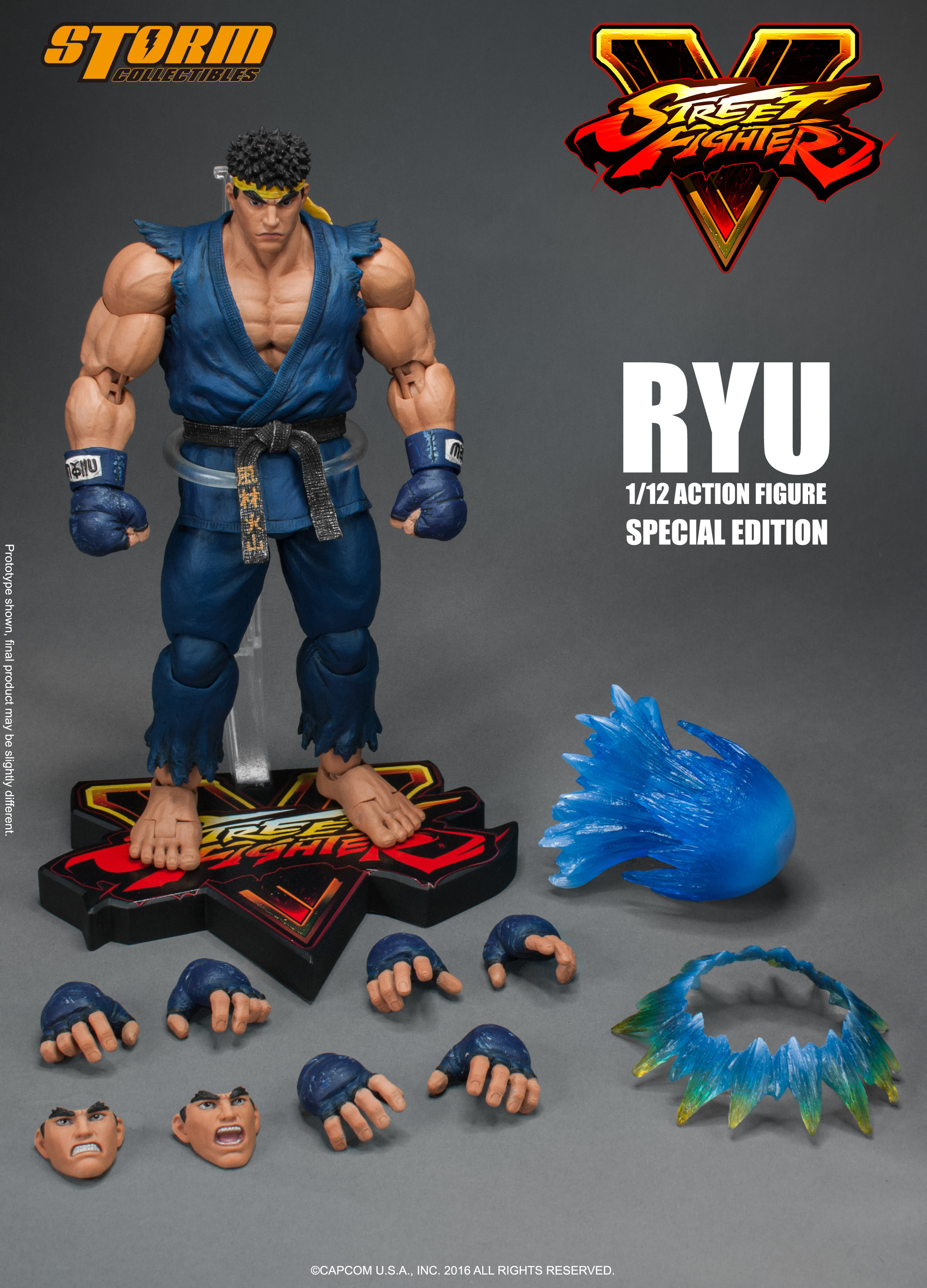 Street Fighter V - Ryu Special Edition Blue Ver. 1:12 Action Figure