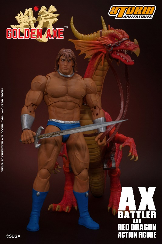 Golden Axe - Ax Battler & Red Dragon 1/12 Action Figure
