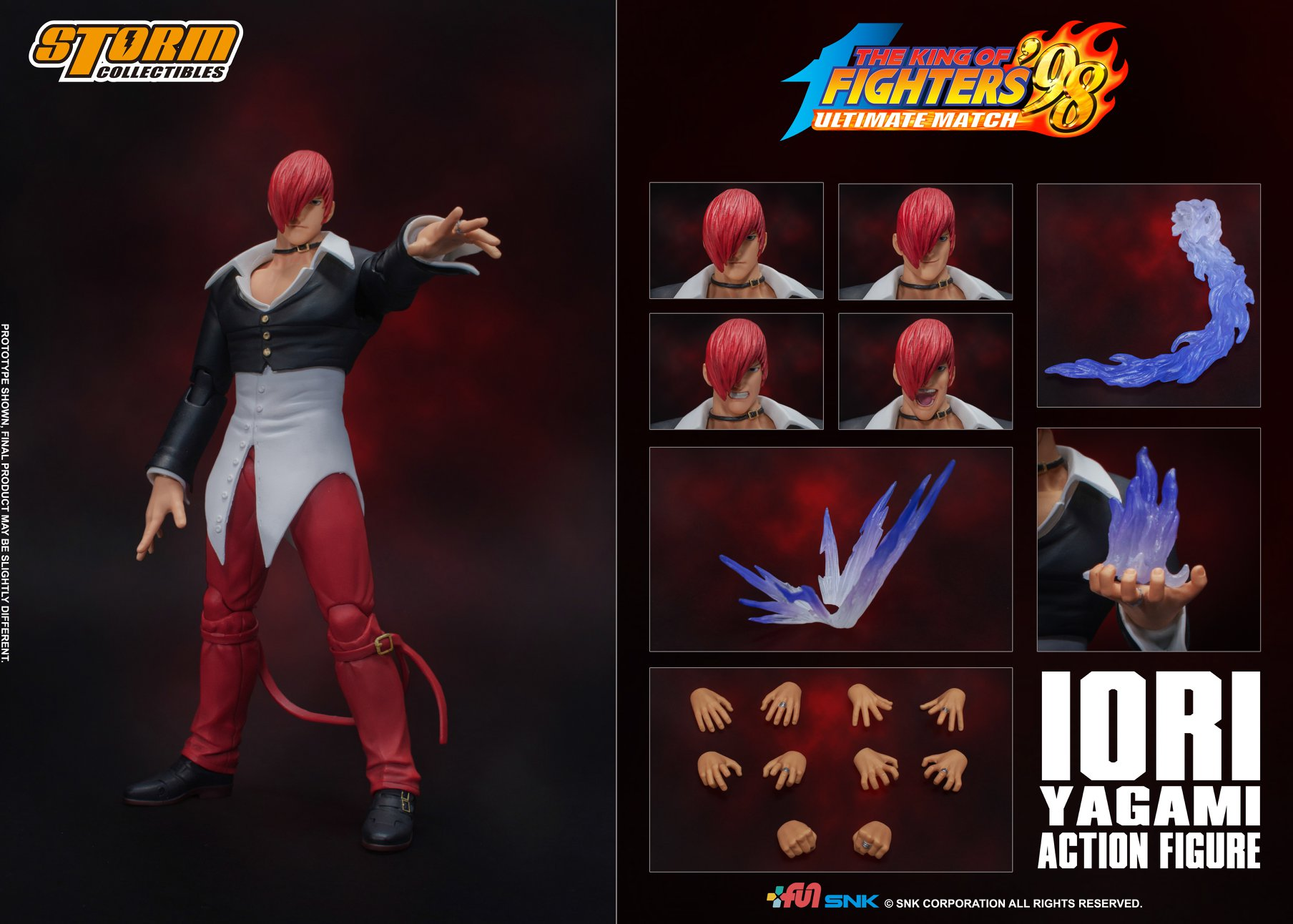 King of Fighters' 98 - Iori Yagami 1/12 Action Figure