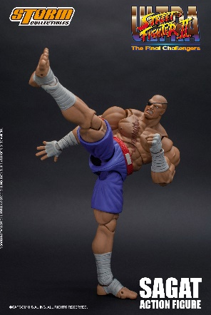 Ultra Street Fighter II - Sagat 1:12 Action Figure
