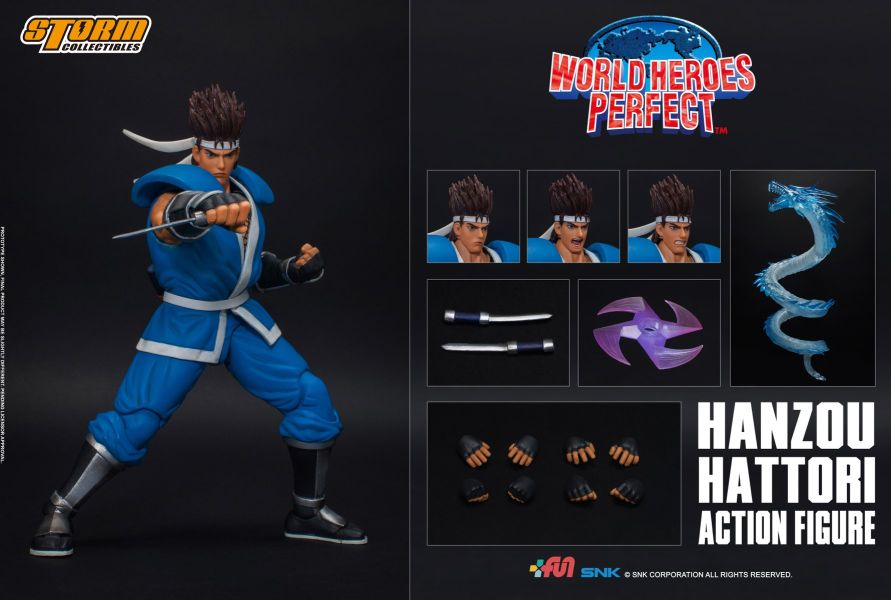 [Pre-Order] World Heroes Perfect - Hanzou Hattori 1/12 Action Figure