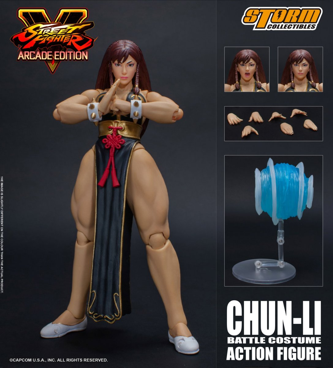 Street Fighter V - Hot Chun-Li 2018 NYCC Exclusive 1:12 Action Figure