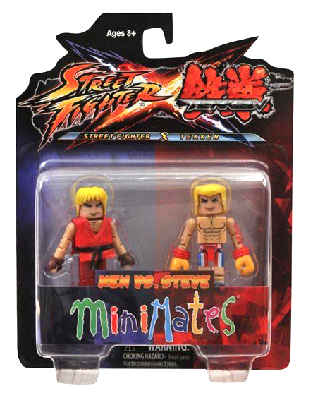 Minimates Tekken VS Street Fighter Series 1 - Ken vs. Steve