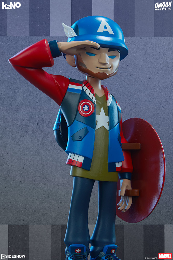[Pre-Order] kaNO Designer Collectible Toy - Captain America