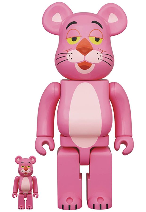 [Pre-Order] Bearbrick 400% + 100% Pink Panther