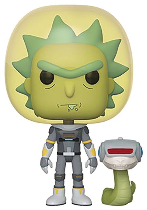 POP! Animation: Rick and Morty - Space Suit Rick with Snake